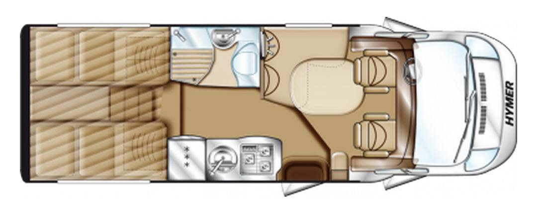 Hymer Tramp T 578 PR 50 - Plano - Distribución