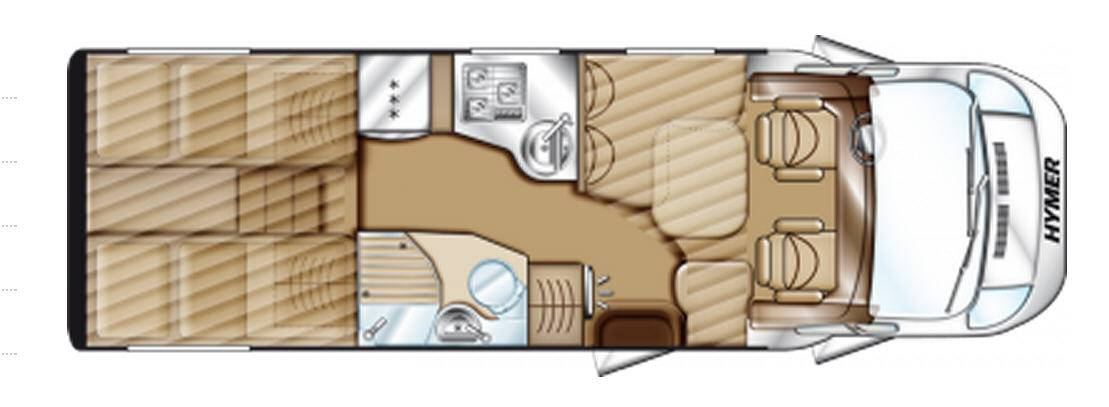 Hymer Tramp T 674 PR 50 - Plano - Distribución