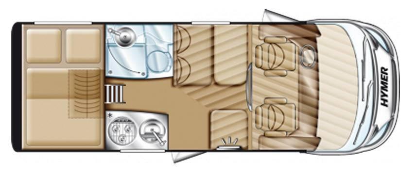 Hymer Exsis Ford Exsis 512 - Plano - Distribución