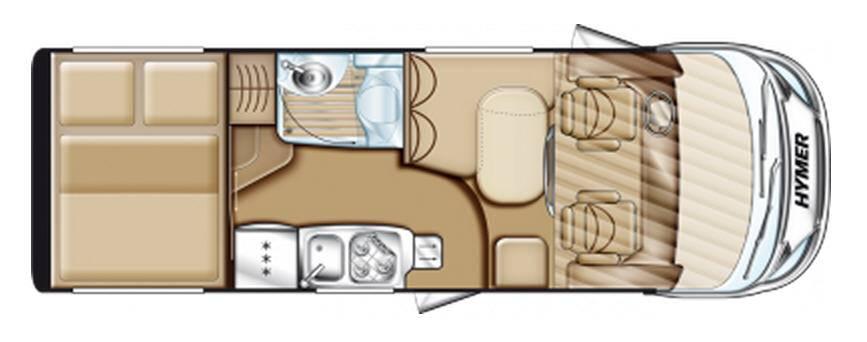 Hymer Exsis Fiat Ex 614 - Plano - Distribución