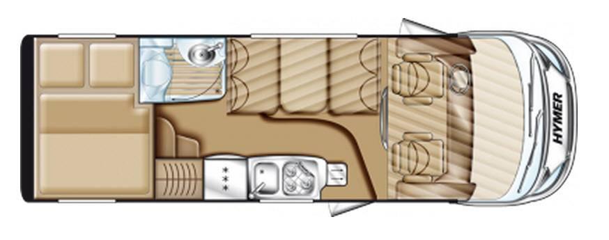 Hymer Exsis Fiat Ex 644 - Plano - Distribución
