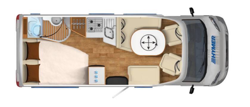 Hymer Tramp SL T554SL - Plano - Distribución