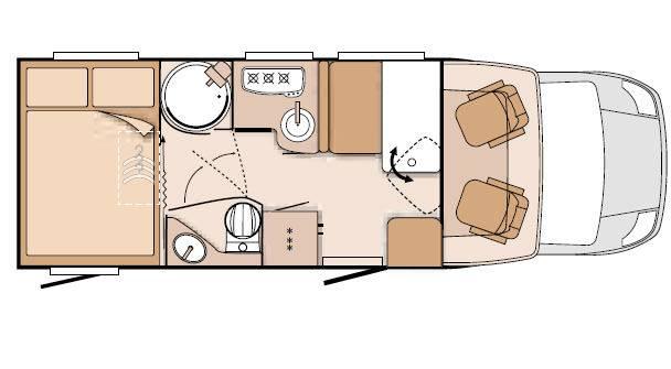 Knaus Sky Ti 650 MG - Plano - Distribución