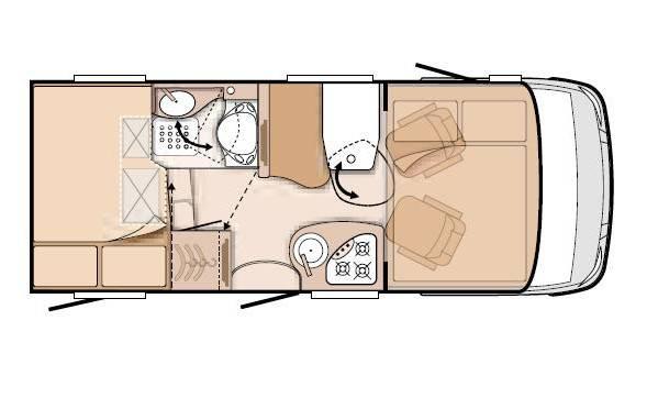 Knaus Van I 550 MD - Plano - Distribución
