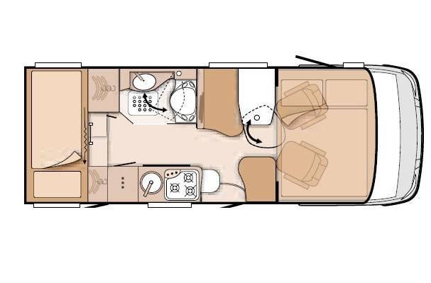 Knaus Van I 550 MK - Plano - Distribución