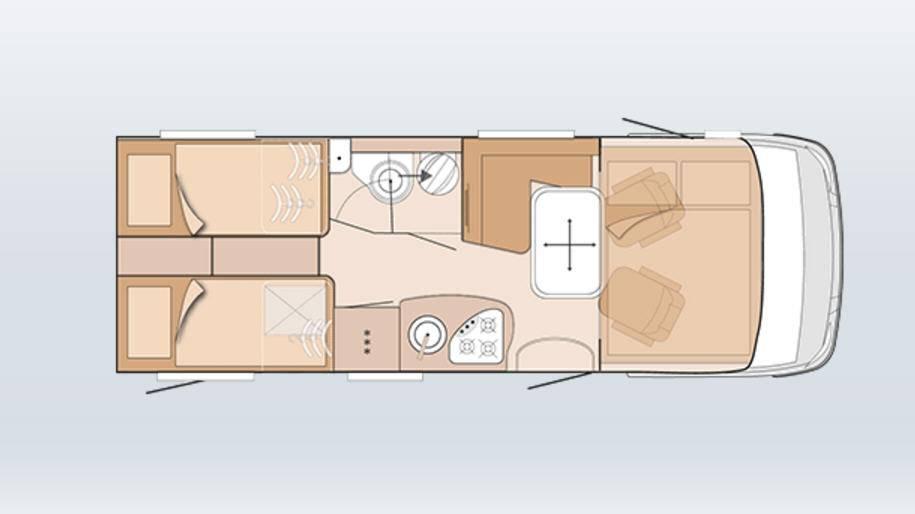 Knaus Sky I 650 Leg Plus - Plano - Distribución