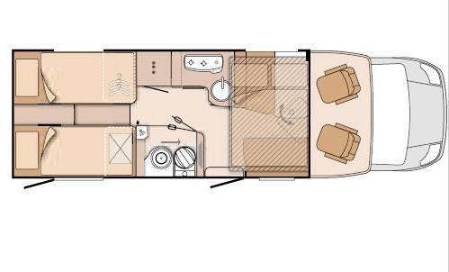 Knaus SkyWave 700 MEG - Plano - Distribución