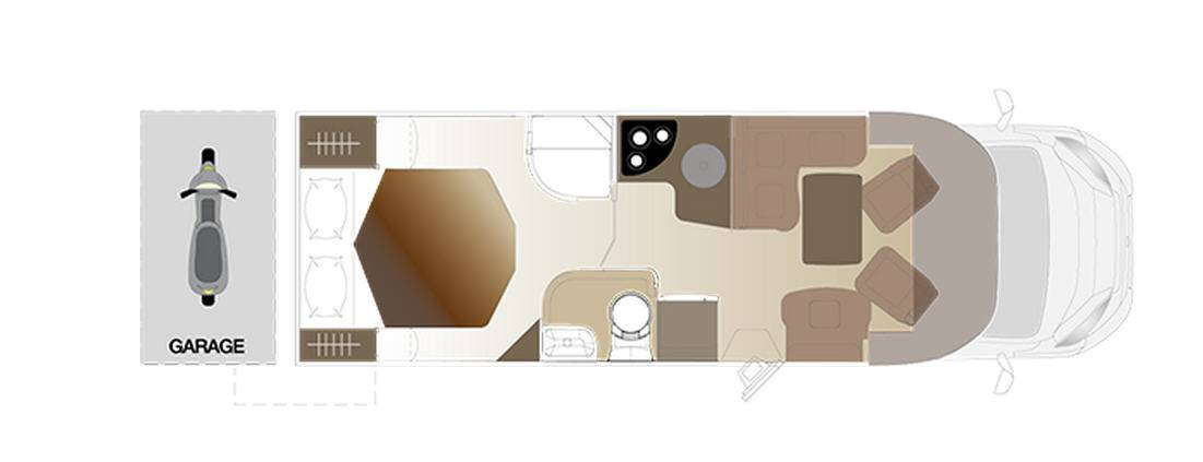 Laika ECOVIP PERFILADOS EV 410 - Plano - Distribución