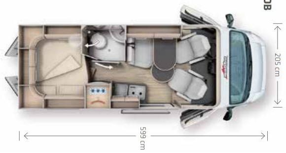 Malibu 600 600 DB charming - Plano - Distribución