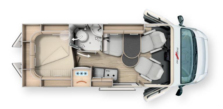 Malibu Charming Charming 600 DB - Plano - Distribución