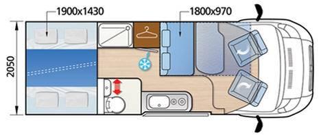 Mclouis Menfys van Van 3 Maxi DS Prestige - Plano - Distribución