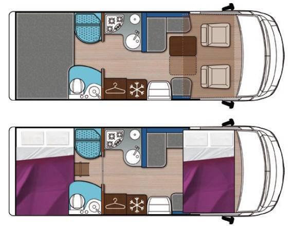 Mobilvetta K-yacht MH87 - Plano - Distribución