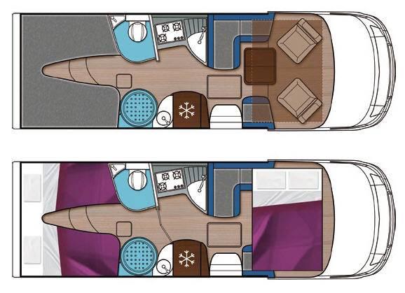 Mobilvetta S-Yacht MH104 - Plano - Distribución