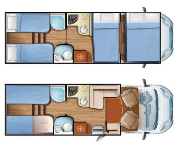 Mobilvetta KEA KEA M76 - Plano - Distribución