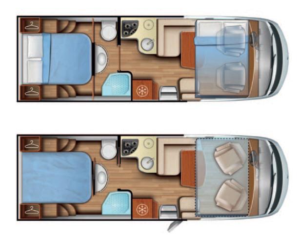 Mobilvetta K-Yacht K-YACHT 78 - Plano - Distribución