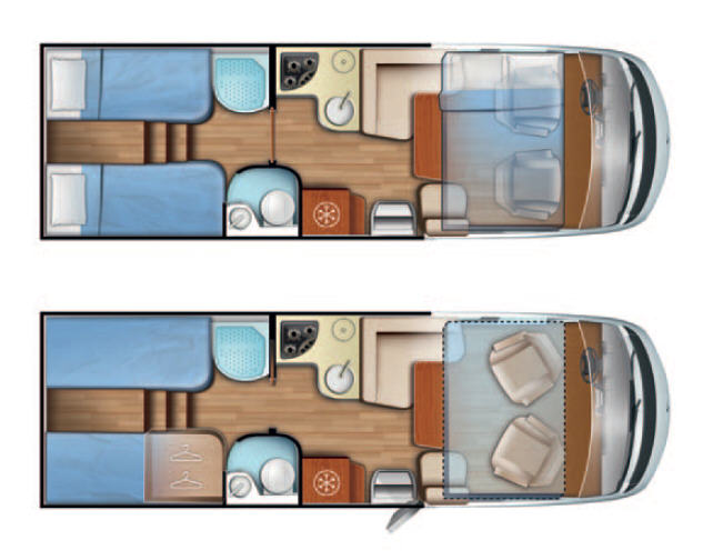 Mobilvetta K-Yacht K-YACHT 85 - Plano - Distribución