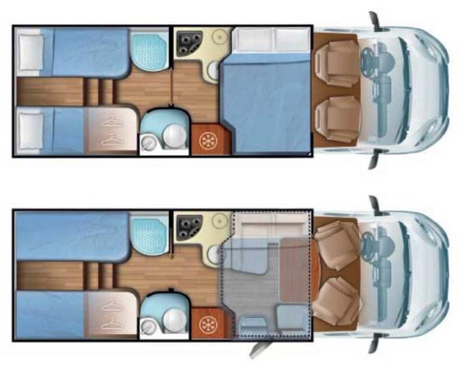 Mobilvetta Kea P65 - Plano - Distribución