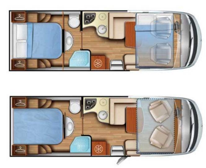 Mobilvetta K-Yacht 79 - Plano - Distribución