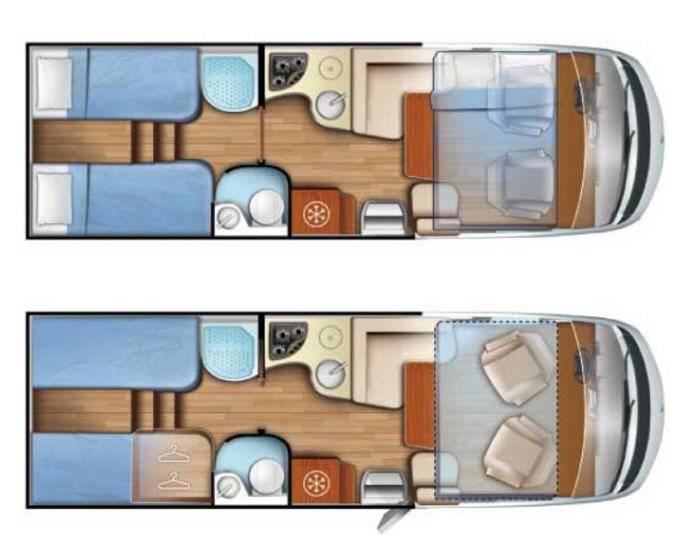 Mobilvetta K-Yacht 89 - Plano - Distribución