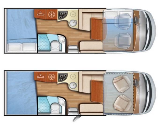 Mobilvetta K-Yacht Tecno line 87 - Plano - Distribución