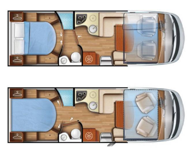 Mobilvetta K-Yacht Tecno line 89 - Plano - Distribución