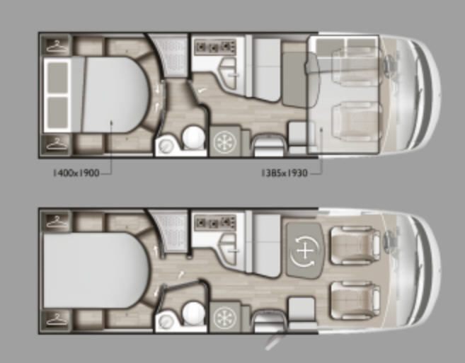 Mobilvetta K-YACHT TEKNO DESIGN 89 - Plano - Distribución