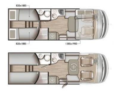 Mobilvetta K-YACHT TEKNO LINE 86 - Plano - Distribución