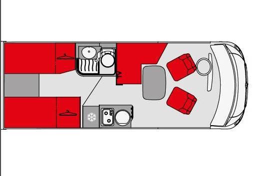 Pilote Galaxy G 650 GJ Emotion - Plano - Distribución