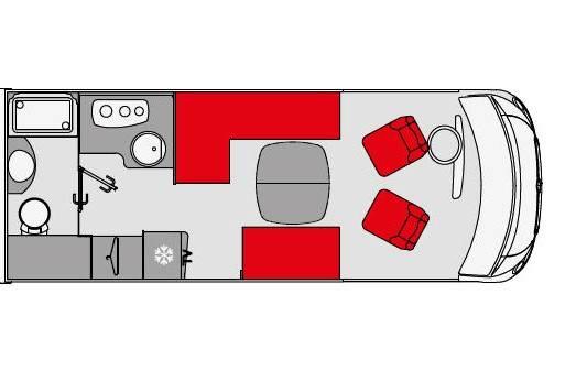 Pilote Galaxy G 650 L Emotion - Plano - Distribución