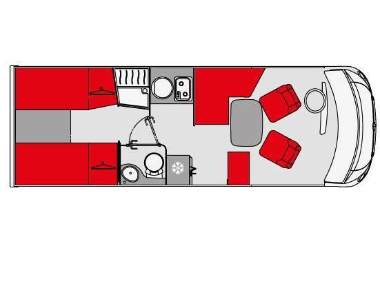 Pilote Galaxy G 701 GJ Emotion - Plano - Distribución