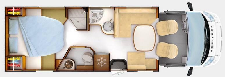 Rapido Serie 7 7091 FF Design Edition - Plano - Distribución