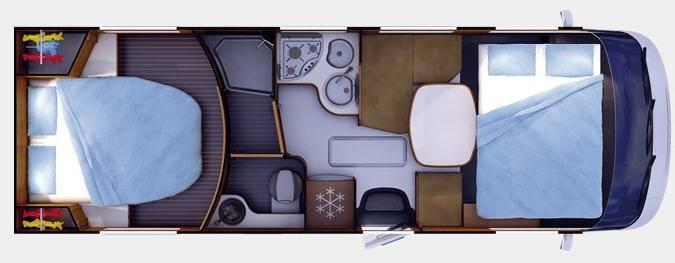 Rapido Serie 9 9090 dF Design Edition - Plano - Distribución