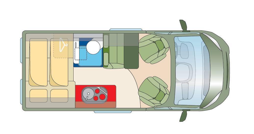Roadcar R 540 - Plano - Distribución