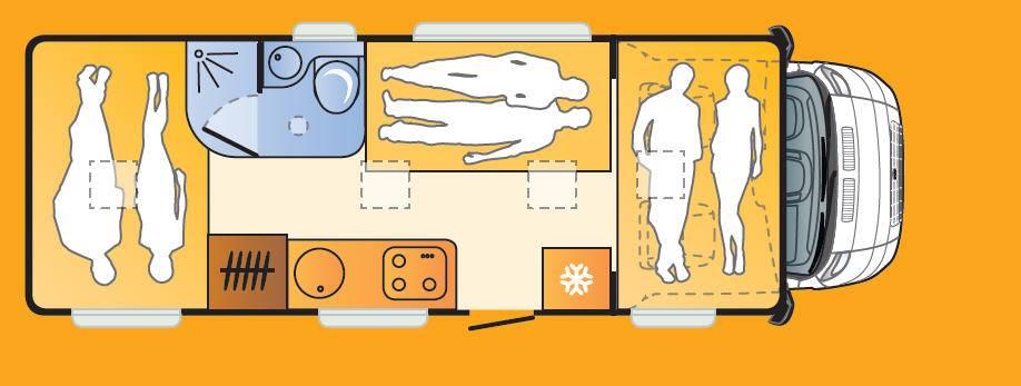 Sun Living LIDO A 49 DP - Plano - Distribución