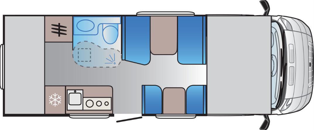 Sun Living A 70 DK - Plano - Distribución