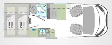 Weinsberg Carabus 601 K - Plano - Distribución