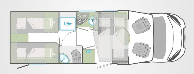 Weinsberg CARALOFT 700 MEH - Plano - Distribución
