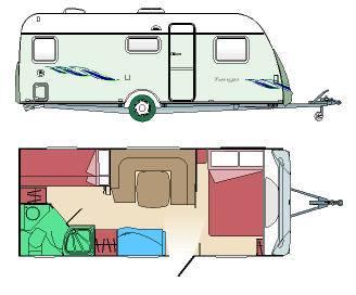Caravana sun roller tango home caravan modelo de 2009 - Interior caravana ...