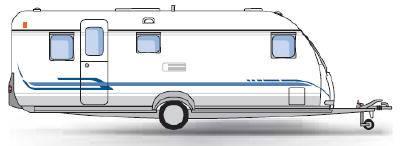 Rørig Caravana Adria Classica 663 KP (modelo de 2008) XM-31