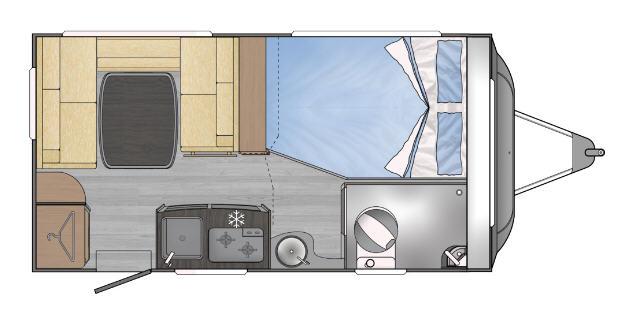 Across Car SAFARI 410 SD - Plano - Distribución