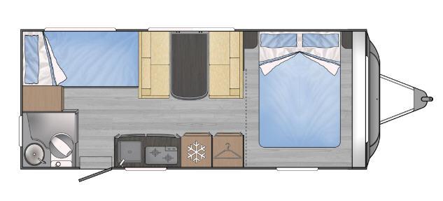 Across Car ARENA 540 LC - Plano - Distribución