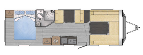 Across Car ARENA 720 DDC - Plano - Distribución