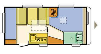 Adria ALTEA Altea 462 PK - Plano - Distribución