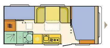 Adria ALTEA Altea 552 PK - Plano - Distribución