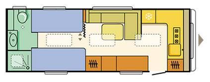 Adria ASTELLA GLAM EDITION Astella Glam - 663 HT - Plano - Distribución