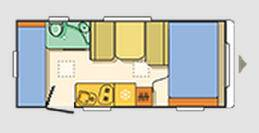 Adria Aviva Move 490 CP - Plano - Distribución