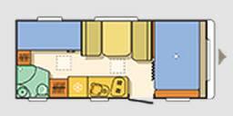 Adria Aviva Move 495 LX - Plano - Distribución