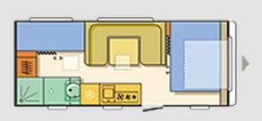 Adria Adora 573 PT - Plano - Distribución
