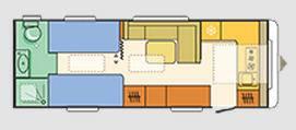 Adria Astella Glam Edition 663 HT - Plano - Distribución