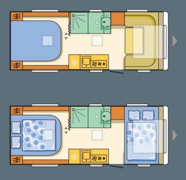 Adria Adora 593 UP - Plano - Distribución